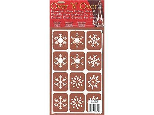 [해외]스텐실 눈송이 위에 'N'이상의 갑옷/Armour Over `N` Over Stencil Snowflakes