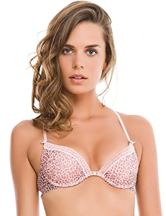 fc0e25aabb23a women secret Animal Print Olympic Push Up Bra with Lace Trim on the Cups.