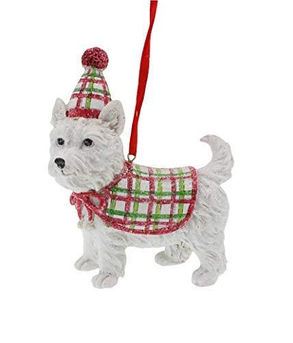 Raz Westie West Highland Festive Dog Ornament (Westie Ornaments)