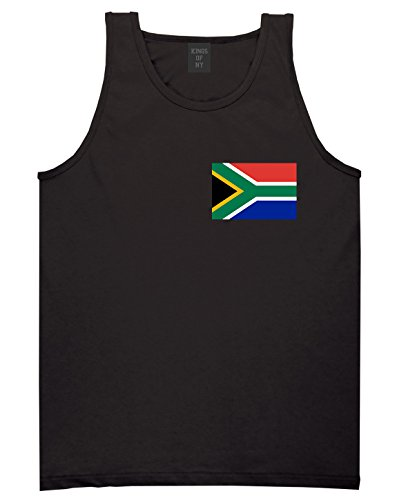 South Africa Flag Country Chest Tank Top Shirt Small Black by Kings Of NY