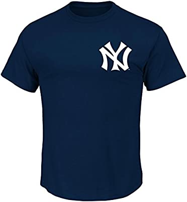 01bfae073df Majestic Thurman Munson New York Yankees Navy Cooperstown Player Jersey Name  and Number T-Shirt. Loading Images.