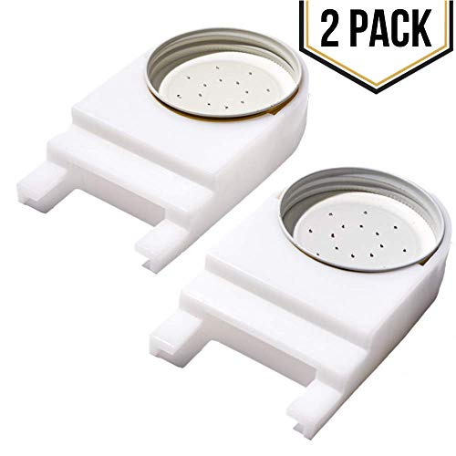 2 Pack - Front Entrance Plastic Honey Bee Feeder and Lid for Feeding Bees Water or Sugar Syrup