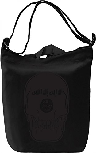 Black skull Borsa Giornaliera Canvas Canvas Day Bag| 100% Premium Cotton Canvas| DTG Printing|