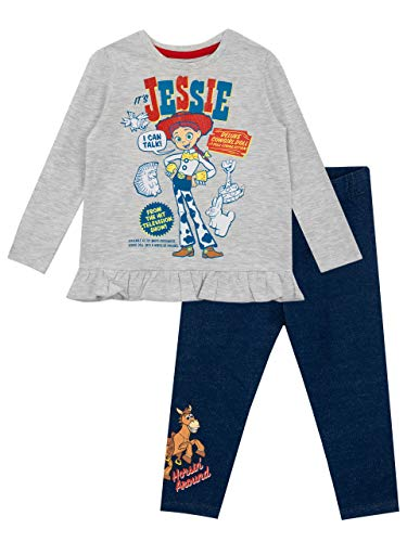 Disney Girls' Toy Story Top & Leggings Set Size 4 Multicolor (Jessie Toy Story Clothing)