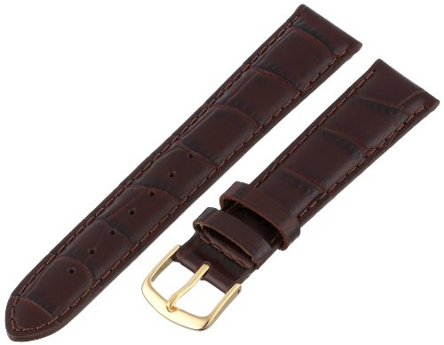 Hadley-Roma Men's MSM835RB-180 18-mm Brown Genuine Italian Calfskin Leather Watch Strap ()