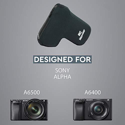 MegaGear MG1499 Sony Alpha A6400, A6500 (18-135mm) Ultra Light Neoprene Camera Case - Black