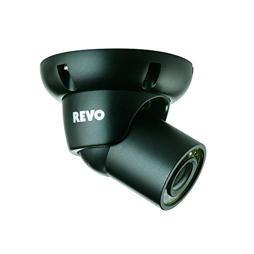 REVO America RCTS30-3BNDL2 700 TVL Indoor/Outdoor Mini Turret Surveillance Camera with 100-Feet Night Vision - 2 Pack (Black)