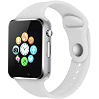 Margoun Smartwatch Phone Fitness Tracker with SIM SD Card Slot Camera Pedometer for iPhone iOS Samsung LG Android for Women Men Kids (White)