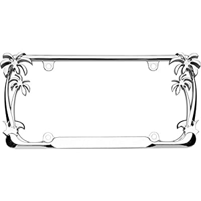 Cruiser Accessories 19003 Palm Tree License Plate Frame, Chrome: Automotive