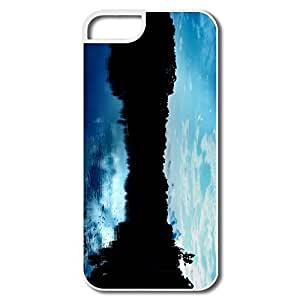 IPhone 5S Case, Blue Sky Reflections Case For IPhone 5 - White Hard Plastic