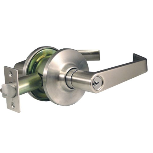 Global Door Controls Empire Style Commercial Storeroom Lever in Brushed Chrome ()
