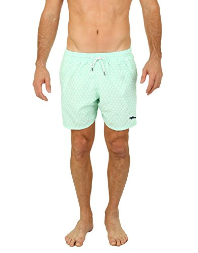 Uzzi Men's Malibu Swim Trunks Green M