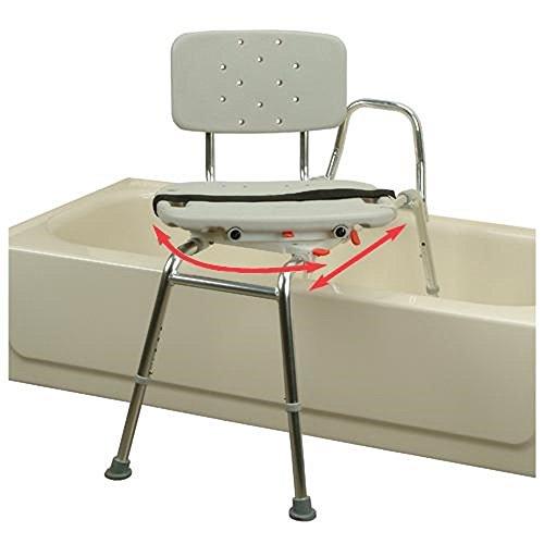 amazoncom eagle swivel seat sliding bath transfer bench u2013 regular u2013 health u0026 personal care - Bath Chair