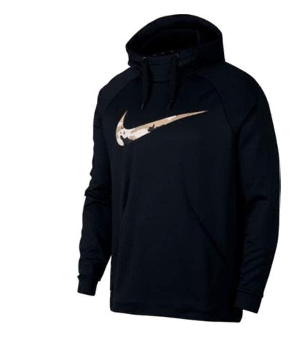 Nike Mens Therma Pullover Hoodie Black Large