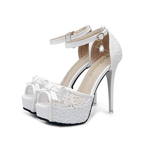 yc L Pommes White Dissimulé Haut Plateforme Fête De Talon Chaussures Femmes Taille Stiletto UBd1qTB