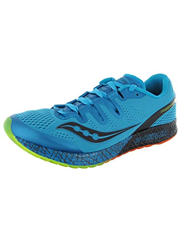 Saucony Men's Freedom ISO Running Shoe, Blue/Black/Citron, 11 M US from Saucony