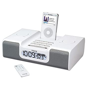 ihome ih8 clock radio for ipod silver amazon ca electronics rh amazon ca iHome iD9 Ih8 iCloud