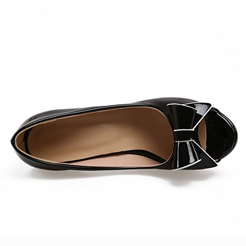 Patent On Leather Formal Girls Pull 1TO9 Black Sandals wRq4IPU1x