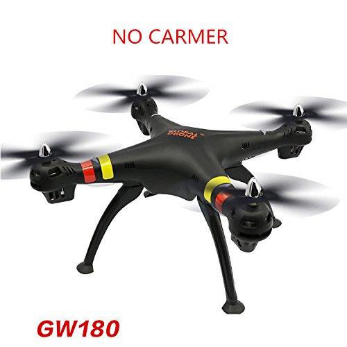 RaiFu GW180 RCドローン 4K HDカメラ付き WIFIリモコン クワドトロープドローンヘリコプター 子供玩具 標準(カメラなしの黒) B07J9HG6FX 標準(カメラなしの黒) 標準(カメラなしの黒)