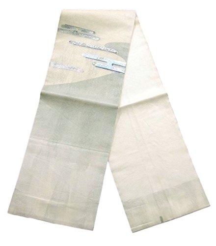仲人時制ストロークリサイクル 名古屋帯 夏物 絽 螺鈿 ヱ霞文 正絹