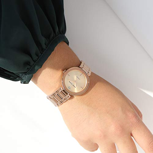 Anne Klein Women's Genuine Diamond Dial Bracelet Watch 3