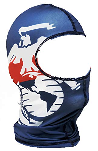 Dark Blue Marine Corps Dual Crest Nylon Motorcycle Balaclava Face Mask