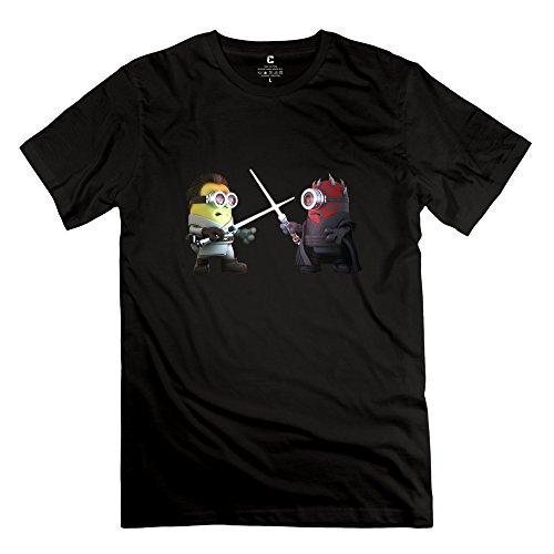 Man Star Wars Darth Obi Wan Minion T-shirts XXL Black