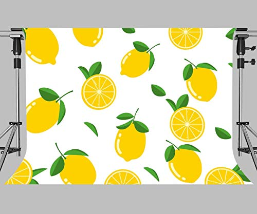 MEETSIOY Fruit World Backdrop Lemon Photography Background Themed Party Photo Booth YouTube Backdrop 7x5ft LXMT898]()