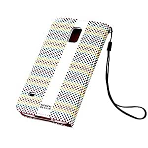 ZXM-Diseño de moda puntea el caso del cuero del patrón con el soporte para Samsung Galaxy i9600 S5 (Negro)