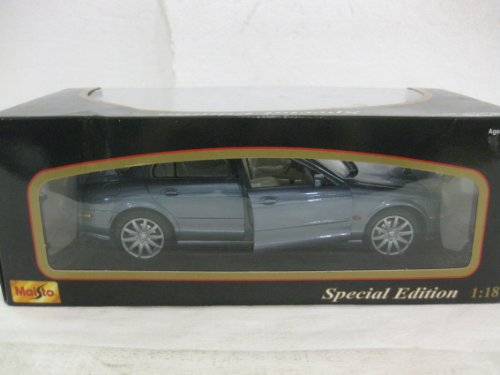 1999 Jaguar S Type In Ford Blue Diecast 1:18 Scale Special Edition By Maisto