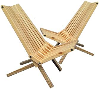Amazon Com Wooden Outdoor Folding Lounge Patio Chair