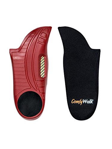 ComfyWalk Insoles, Women's Size, for Plantar Fasciitis, Arch Support, Lower Back Pain Relief, Knee Pain, Shock Absorption, Cushioning, Hip Pain, Better Posture, Ankle Support