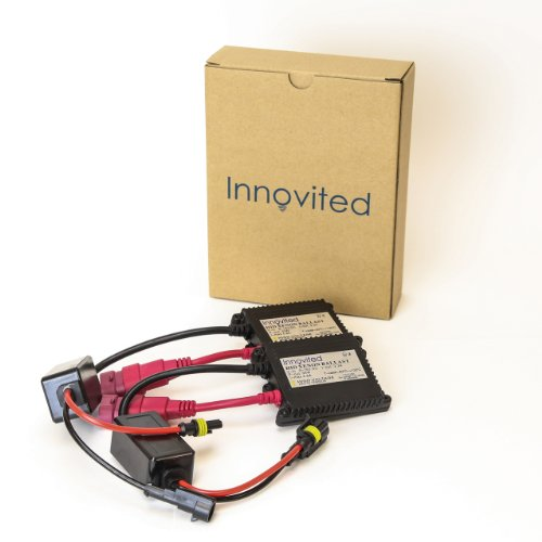 Innovited 2pcs 35w 12v HID Replacement Slim Ballast for H1 H3 H4 H7 H10 H11 9005 9006 D2r D2s All Sizes