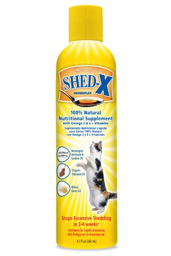 SynergyLabs SHED-X Dermaplex Shed Control Nutritional Supplement for Cats; 8.3 fl. oz.