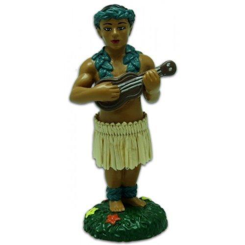 (Hawaiian Hula Boy with Ukulele Miniature Dashboard Doll)