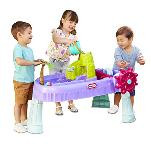 🥇 Little Tikes Mermaid Island Wavemaker Water Table with Five Unique Play Stations and Accessories