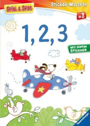 1, 2, 3 (Spiel & Spaß - Sticker-Malspaß)