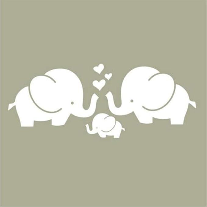 Finloveg Lindos Corazones De Elefantes Familia Tatuajes De Pared ...
