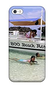 Kingforever Faddish cell phone Bantayan Island case cover For Iphone 5/5s / Perfect case cover Sending Free Screen L0duCuQ26pG Protector