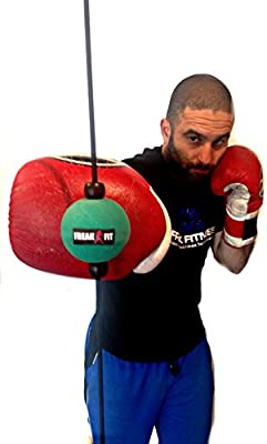 Pro Box Leather Floor to Ceiling Ball Boxing Double End Bag Home Gym Recation