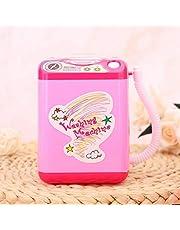 Wasmachine voor make-upborstels, mini-elektrische make-upborstelreiniger, roze batterijvoeding (niet inbegrepen) voor meisjes en dames die make-upborstels schoonmaken(Pink)
