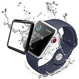 ELVNOVA Apple watchフィルム series3 Series2 Series1『2枚セット』強化ガラスフィルム 高透明 極薄 液晶保護 衝擊吸収 気泡防止 装着簡単42mm フィルム【3D全面保護】
