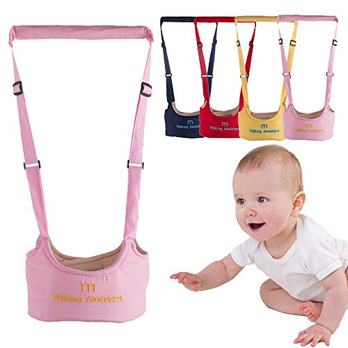 Baby Toddler Walking Assistant Harness Baby Walking Learning Belt Helper Walker Wings Safety Walking Harness Walker for Baby 6-24 Months (Pink)