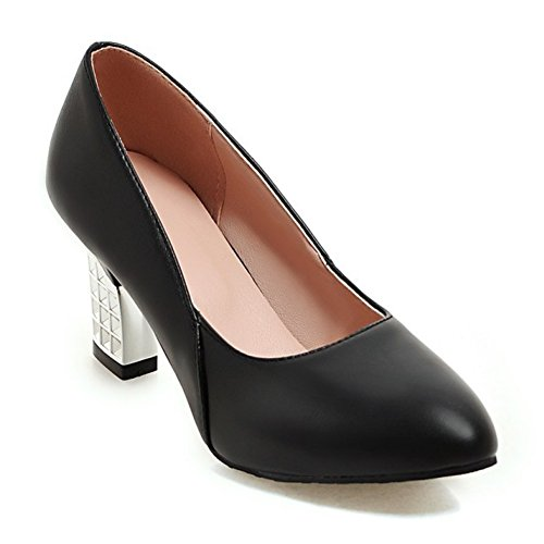 Women's Shoes Black Eclimb Pointed Shoes High Chunky Pumps Toe Heel 78wdq68