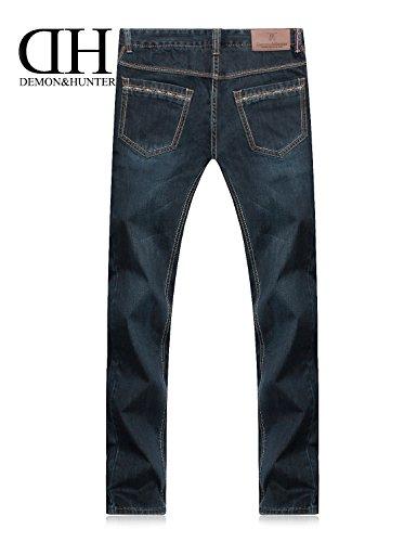 Uomo Demon amp;hunter 802 Jeans Serie Dh8007 Regolare Taglio Dritto Blu X dqtqrw0