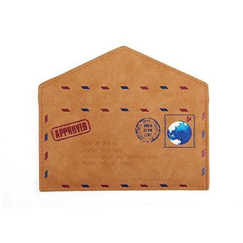 Kunstleder Handyhülle Schutz Hülle für Apple iPhone SE in braun. Briefumschlagoptik Slim case cover pouch für Handys / Smartphones Bookstyle Wallet Case - K-S-Trade(TM) (Wir zahlen Steuern in Deutschl