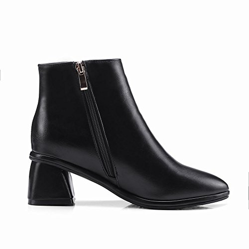 Black Latasa Pointed Ankle Womens Womens Boots Latasa Chunky toe Heel pRxSzwF