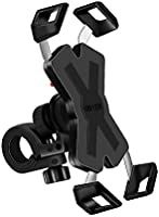 自転車 スマホ ホルダー オートバイ バイク スマートフォンホルダー スポンジパッド付き 脱落防止 防水 GPSナビ マウント スタンド 360度回転 脱着簡単 角度調整 強力な保護 iPhone HUWEI Android 多機種対応