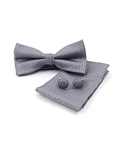Umo Lorenzo 12pc Pack Assorted Bow Tie with Matching Hanky and Cufflinks Set by Umo Lorenzo (Image #3)
