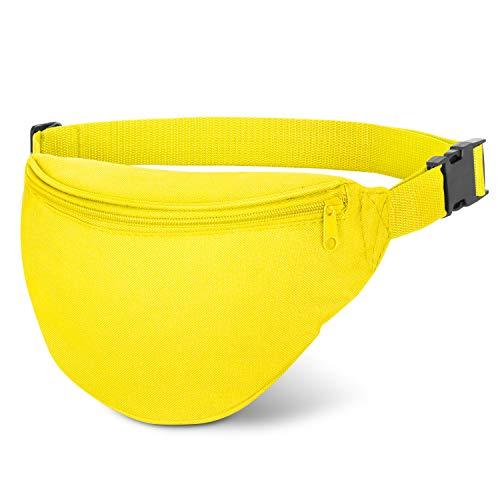 Shop Again Waist Bag, Adjustable Waist 2 Zipper Men Women Travel Running Fanny Pack Bag